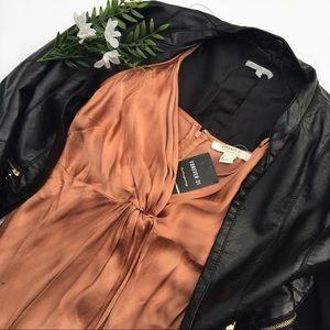NEW! w/tags Silky Rose Strap Dress